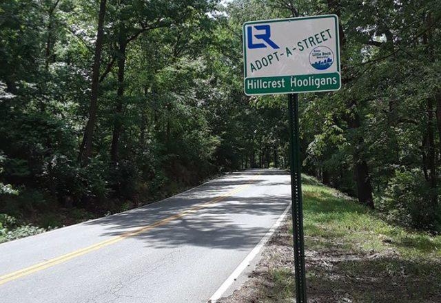 Adopt-A-Street sign